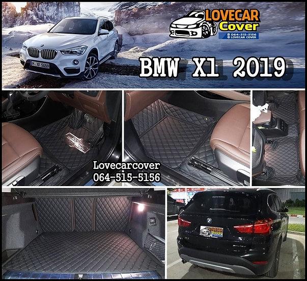 พรมรถยนต์ 6D สีดำล้วน BMW X1 2019