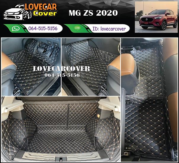 พรมรถยนต์ 6D สีดำด้ายครีม MG ZS 2020