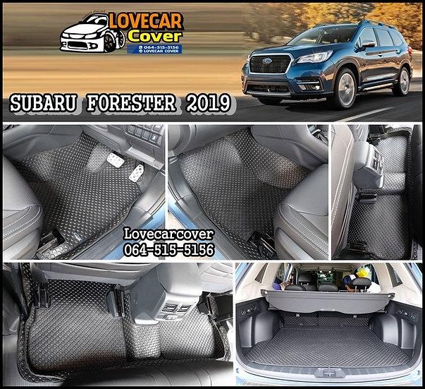 ผ้ายางกระดุมใหญ่ EVA สีดำ Subaru Forester 2019