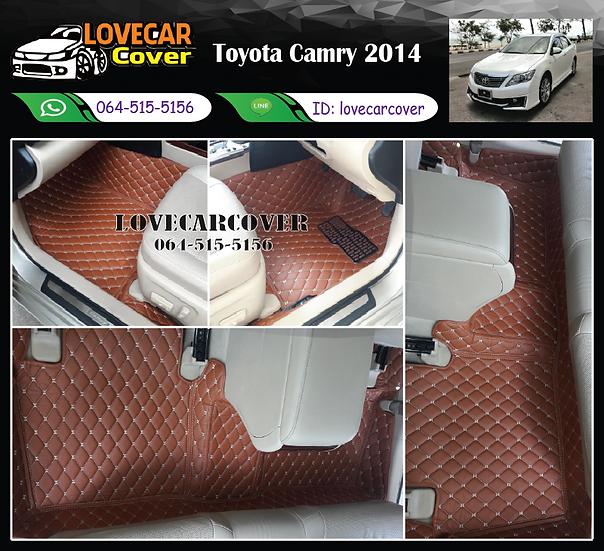 พรมปูพื้นรถยนต์ 6D สีน้ำตาลเข้ม Toyota Camry 2014