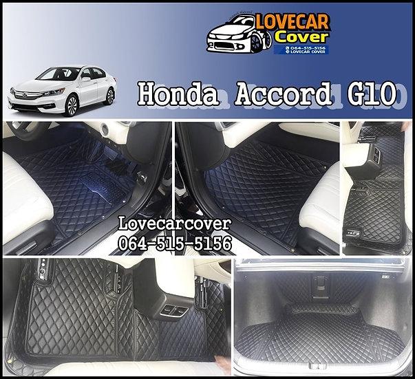 พรมรถยนต์ 6D สีดำล้วน Honda Accord G10