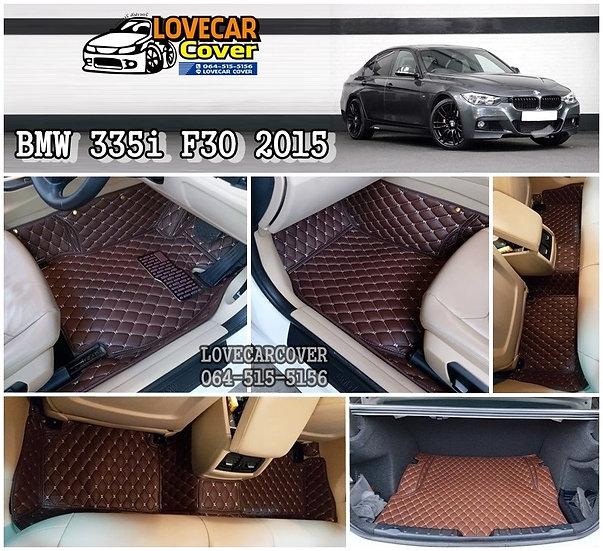 พรมปูพื้นรถยนต์ 6D สีกาแฟ BMW 335i F30 2015