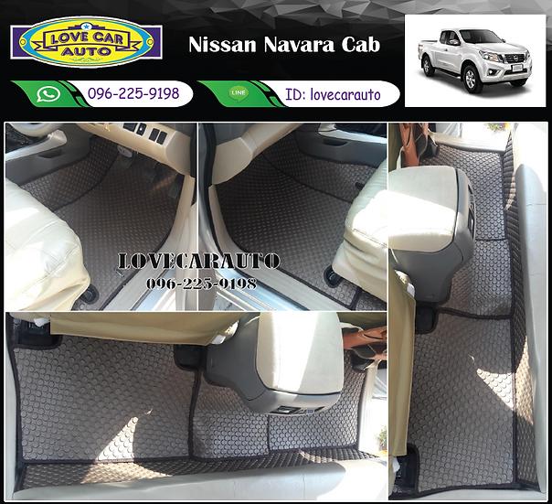 ผ้ายางกระดุมใหญ่ EVA สีน้ำตาล Nissan Navara Cab