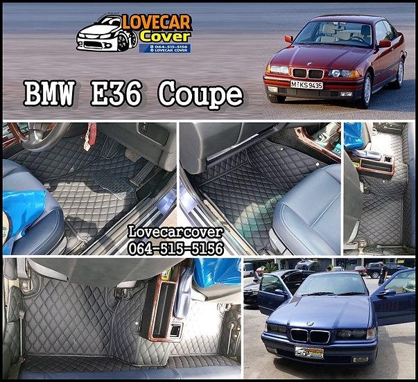 พรมรถยนต์ 6D สีดำล้วน BMW E36 Coupe