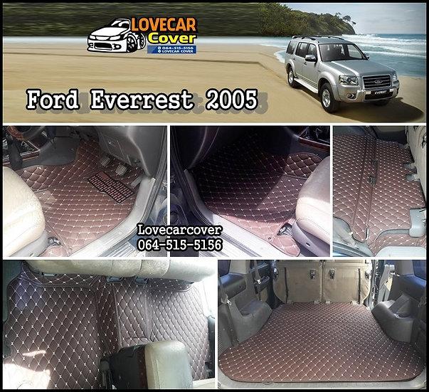 พรมรถยนต์ 6D สีกาแฟ Ford everrest 2005