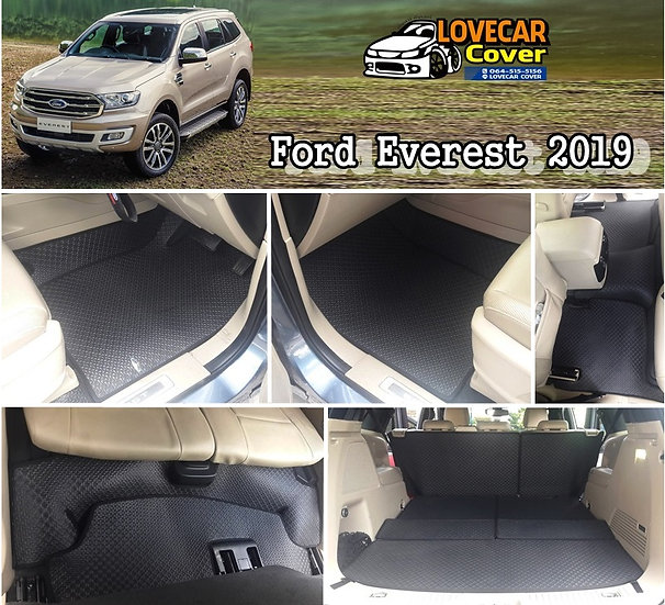 ผ้ายางจิ๊กซอ EVA สีดำ Ford Everest 2019