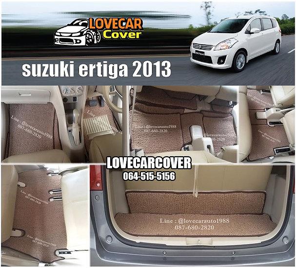 พรมดักฝุ่นรถยนต์ (พรมไวนิล) สีน้ำตาล Suzuki Ertiga 2013