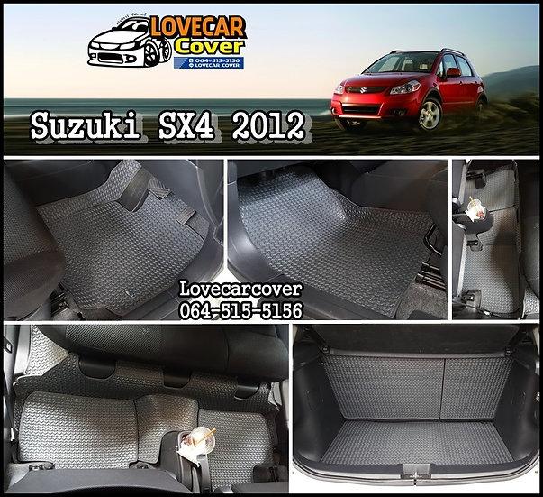 ผ้ายางลายธนู EVA สีเทา Suzuki SX4