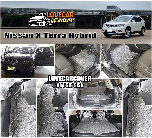 พรมดักฝุ่นรถยนต์ (พรมไวนิล) สีเทา Nissan X-Terra Hybrid