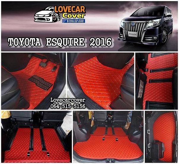 พรมปูพื้นรถยนต์ 6D สีแดงสด Toyota esquire 2016