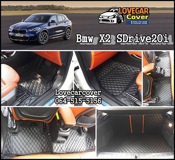 พรมรถยนต์ 6D สีดำล้วน BMW X2 SDrive20i