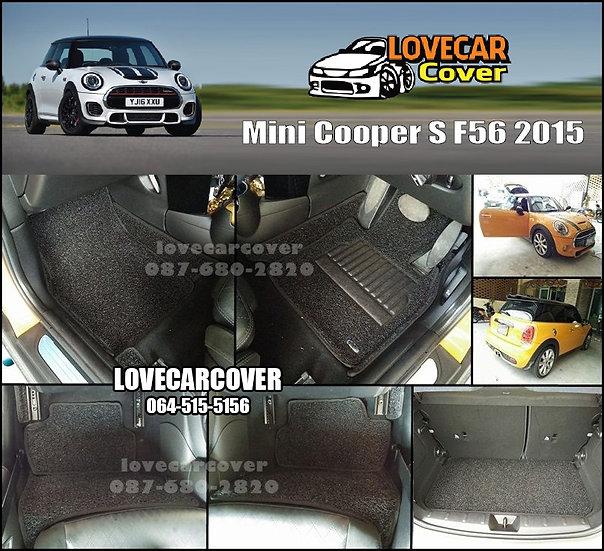 พรมดักฝุ่นรถยนต์ (พรมไวนิล) สีดำ Mini Cooper S F56 2015