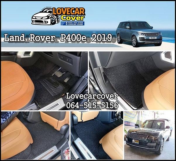 พรมไวนิลปูพื้นรถยนต์ สีดำ Land Rover P400e 2019
