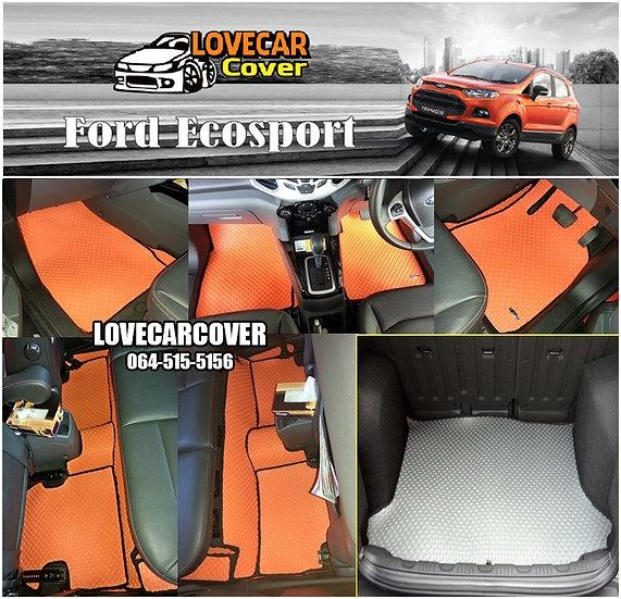ผ้ายางกระดุมใหญ่ EVA สีส้มขอบดำ Ford Ecosport