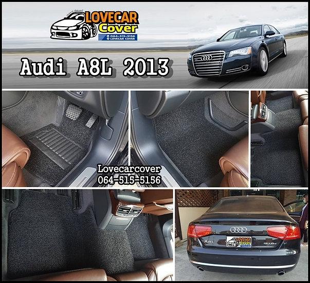 พรมไวนิลปูพื้นรถยนต์ สีดำ AUDI A8L 2013