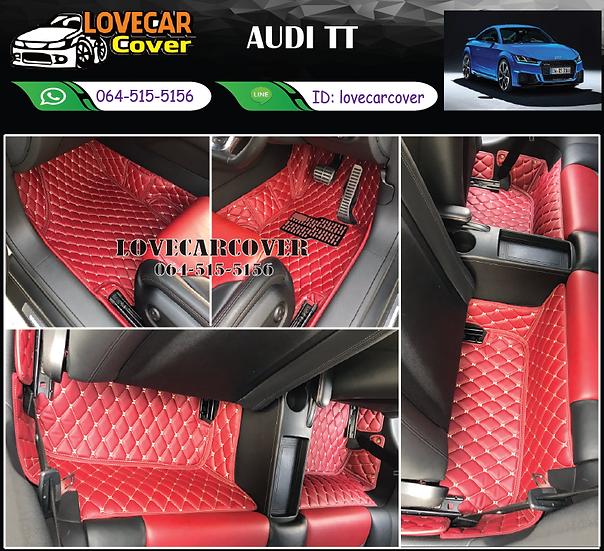 พรมรถยนต์ 6D สีแดงไวน์ Audi TT