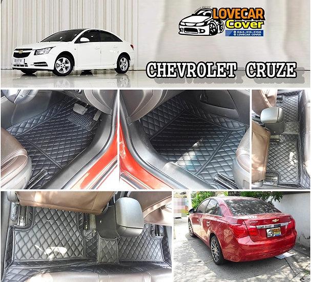 พรมปูพื้นรถยนต์ 6D สีดำล้วน Chevrolet Cruze
