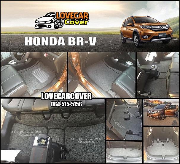 พรมดักฝุ่นรถยนต์ (พรมไวนิล) สีเทา Honda BR-V