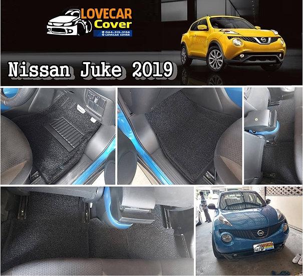พรมไวนิลปูพื้นรถยนต์ สีดำ Nissan Juke 2019