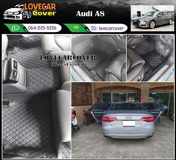 พรมรถยนต์ 6D สีดำล้วน Audi A8