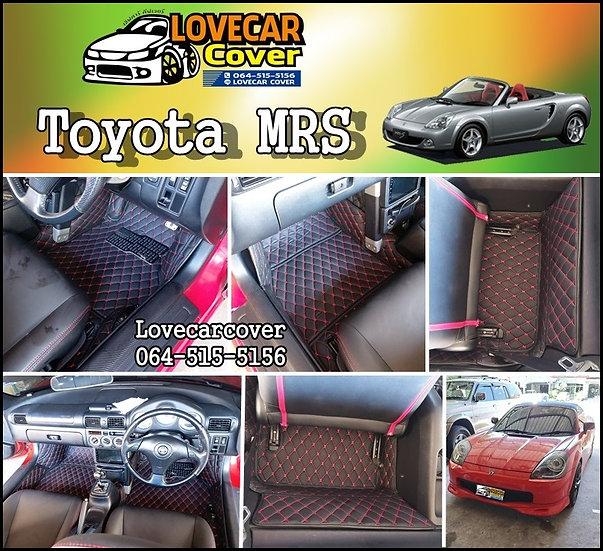 พรมปูพื้นรถยนต์ 6D สีดำด้ายแดง Toyota MRS