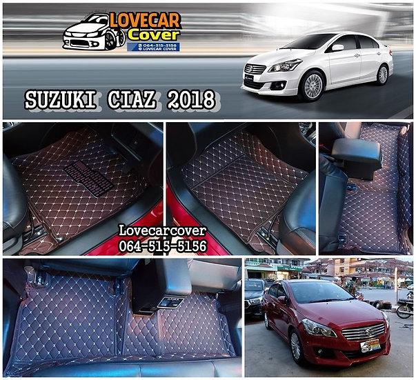 พรมรถยนต์ 6D สีกาแฟ Suzuki Ciaz 2018