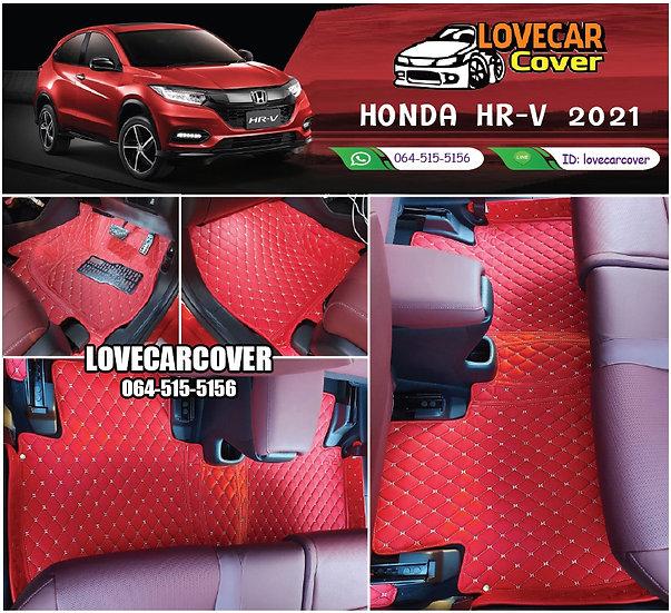 พรมรถยนต์ 6D สีแดงสด Honda HR-V 2021