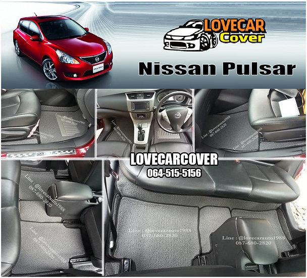 พรมดักฝุ่นรถยนต์ (พรมไวนิล) สีเทา Nissan Pulsar