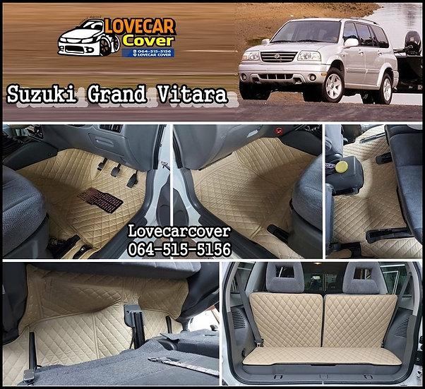 พรมรถยนต์ 6D สีครีม Suzuki grand vitara