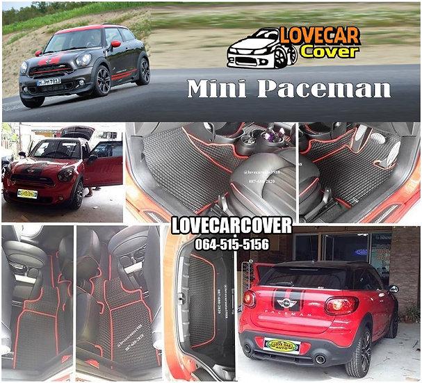 ผ้ายางลายธนู EVA สีดำขอบแดง Mini Paceman