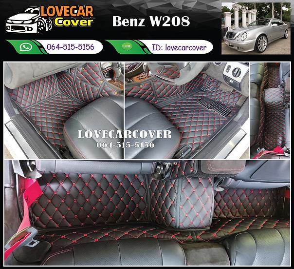 พรมรถยนต์ 6D สีดำด้ายแดง Benz W208