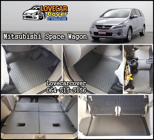 ผ้ายางกระดุมใหญ่ EVA สีเทา Mitsubishi Space Wagon