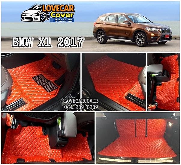 พรมรถยนต์ 6D สีแดงสด BMW X1 2017