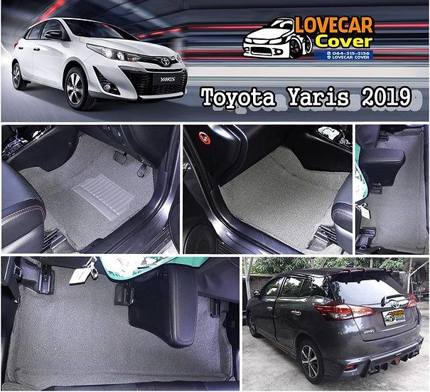 พรมไวนิลปูพื้นรถยนต์ สีเทา Toyota Yaris 2019