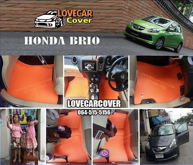 ผ้ายางกระดุมใหญ่ EVA สีส้ม Honda Brio