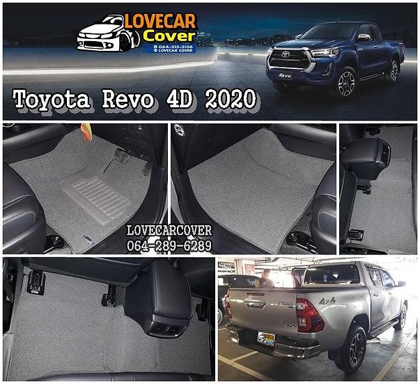 พรมไวนิลปูพื้นรถยนต์ สีเทา Toyota Revo 4D 2020