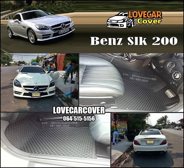 ผ้ายางกระดุมใหญ่ EVA สีดำ Benz Slk 200