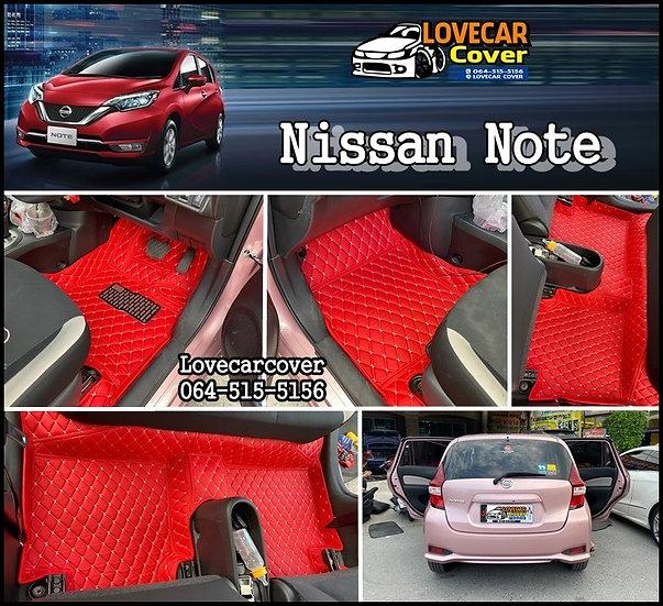 พรมปูพื้นรถยนต์ 6D สีแดงสด Nissan Note