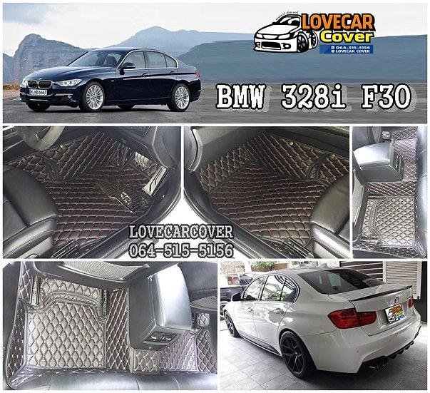 พรมรถยนต์ 6D สีดำด้ายแดง BMW 328I F30