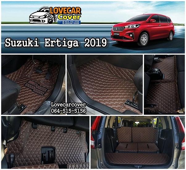 พรมรถยนต์ 6D สีกาแฟ Suzuki Ertiga 2019