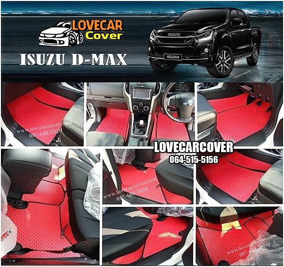 ผ้ายางกระดุมใหญ่ EVA สีแดงขอบสีดำ Isuzu D-Max