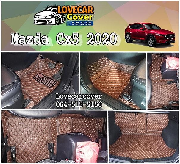 พรมรถยนต์ 6D สีกาแฟ Mazda CX5 2020