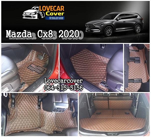 พรมรถยนต์ 6D สีกาแฟ Mazda CX8 2020