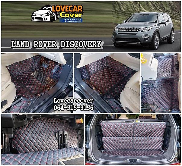 พรมปูพื้นรถยนต์ 6D สีดำด้ายแดง LAND ROVER DISCOVERY 2019