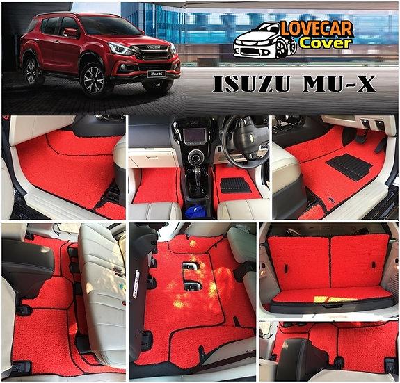 พรมดักฝุ่นรถยนต์ (พรมไวนิล) สีแดง Isuzu Mu-x