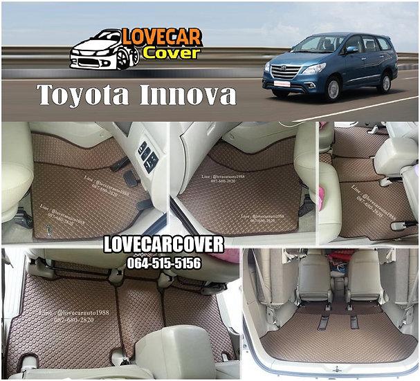 ผ้ายางกระดุมใหญ่ EVA สีน้ำตาล Toyota Innova