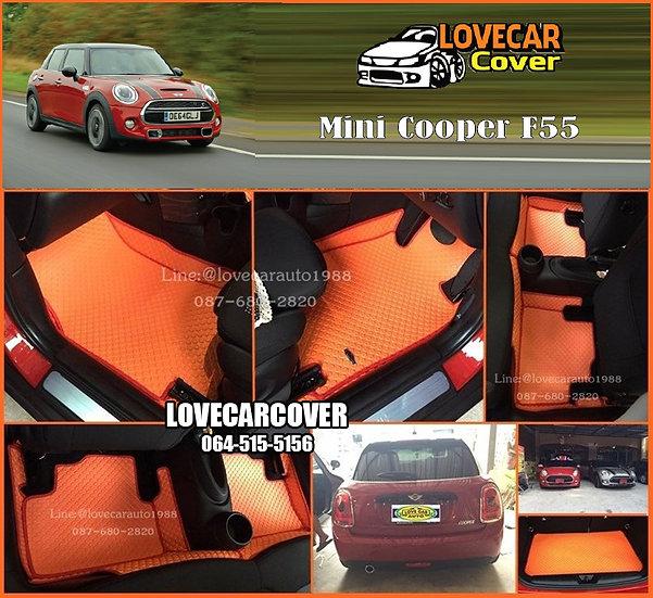 ผ้ายางกระดุมใหญ่ EVA สีส้มขอบสีแดง Mini Cooper F55