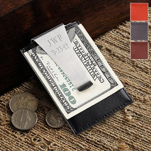 Leather Money Clip/Credit Card Holder