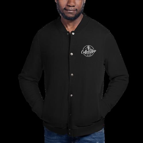 CoffeeShop Embroidered Bomber Jacket
