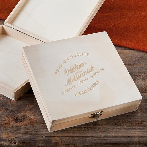 Wooden Keepsake & Cigar Box